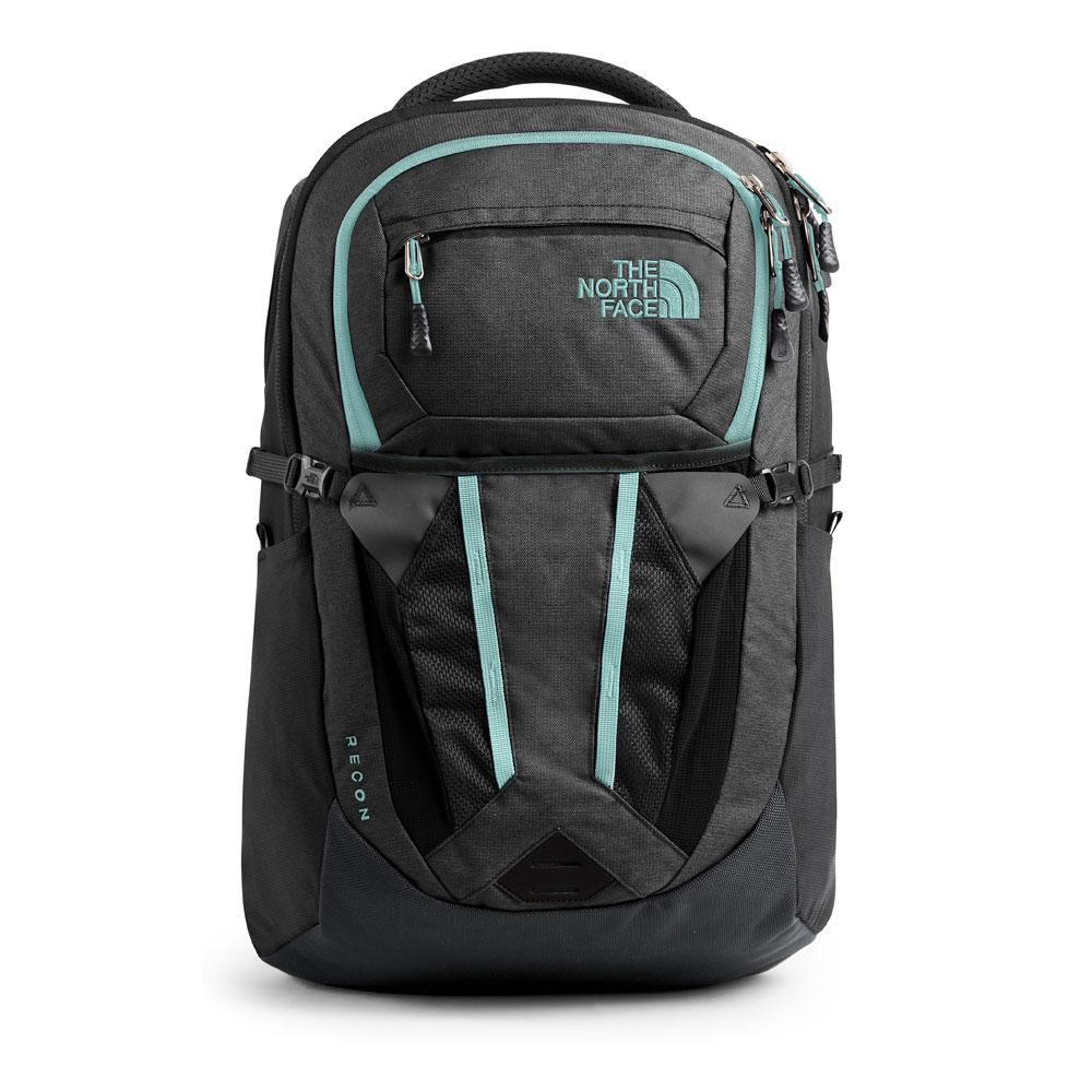 North Face Women's Recon Asphalt Grey/Light Blue Backpack