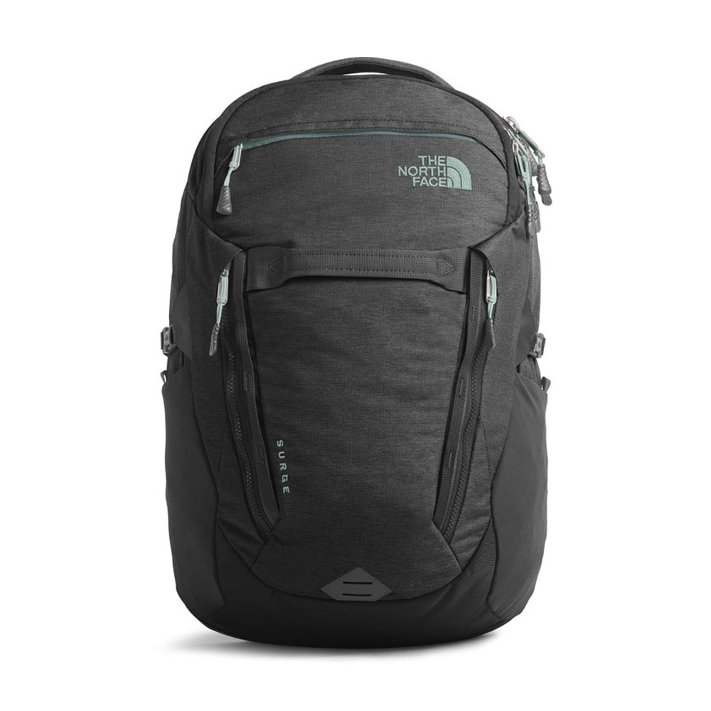 North Face Women's Surge Asphalt Grey/Windmill Blue Backpack