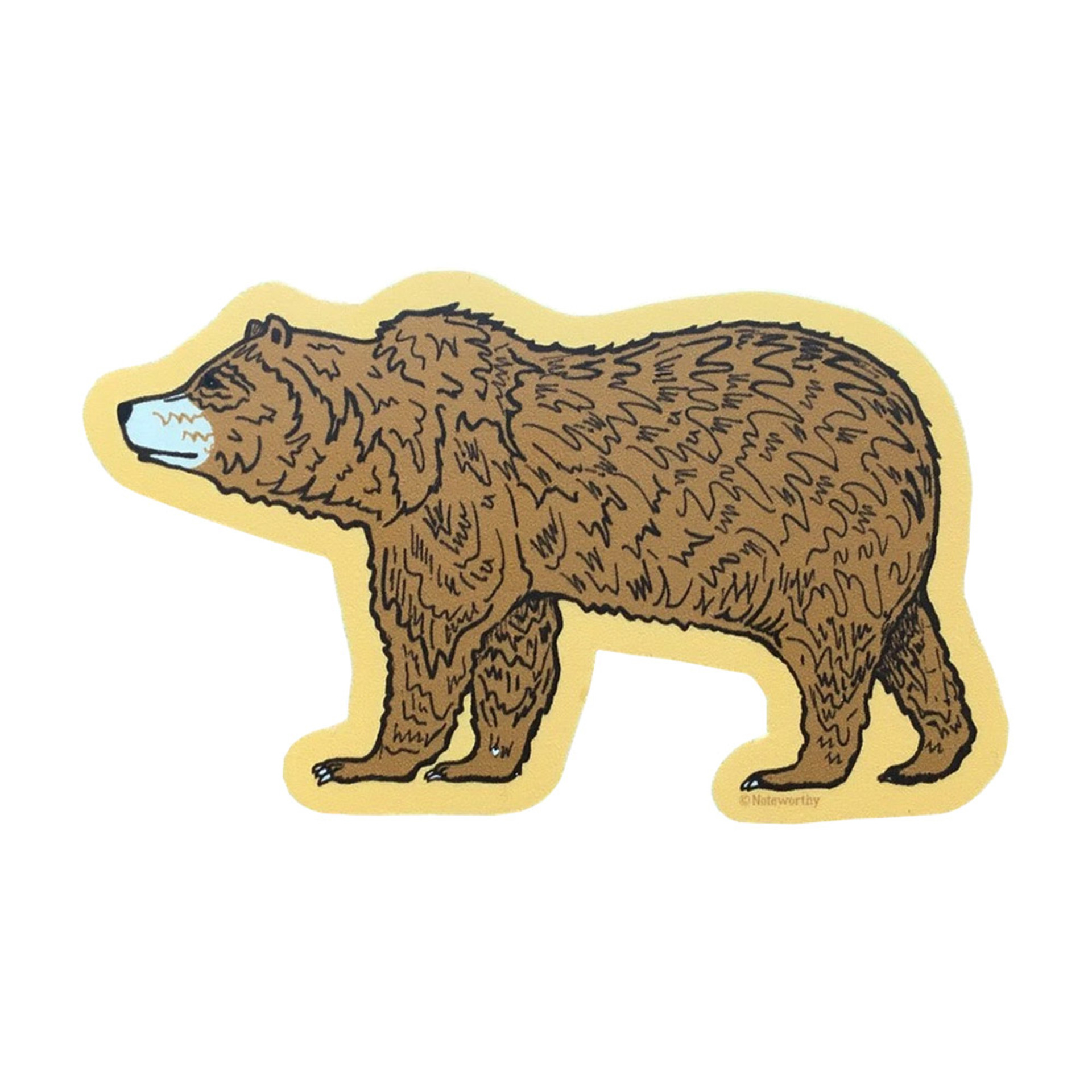 Noteworthy Grizzly Bear Sticker