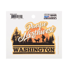 Orange Pacific Northwest Washington Decal Sticker