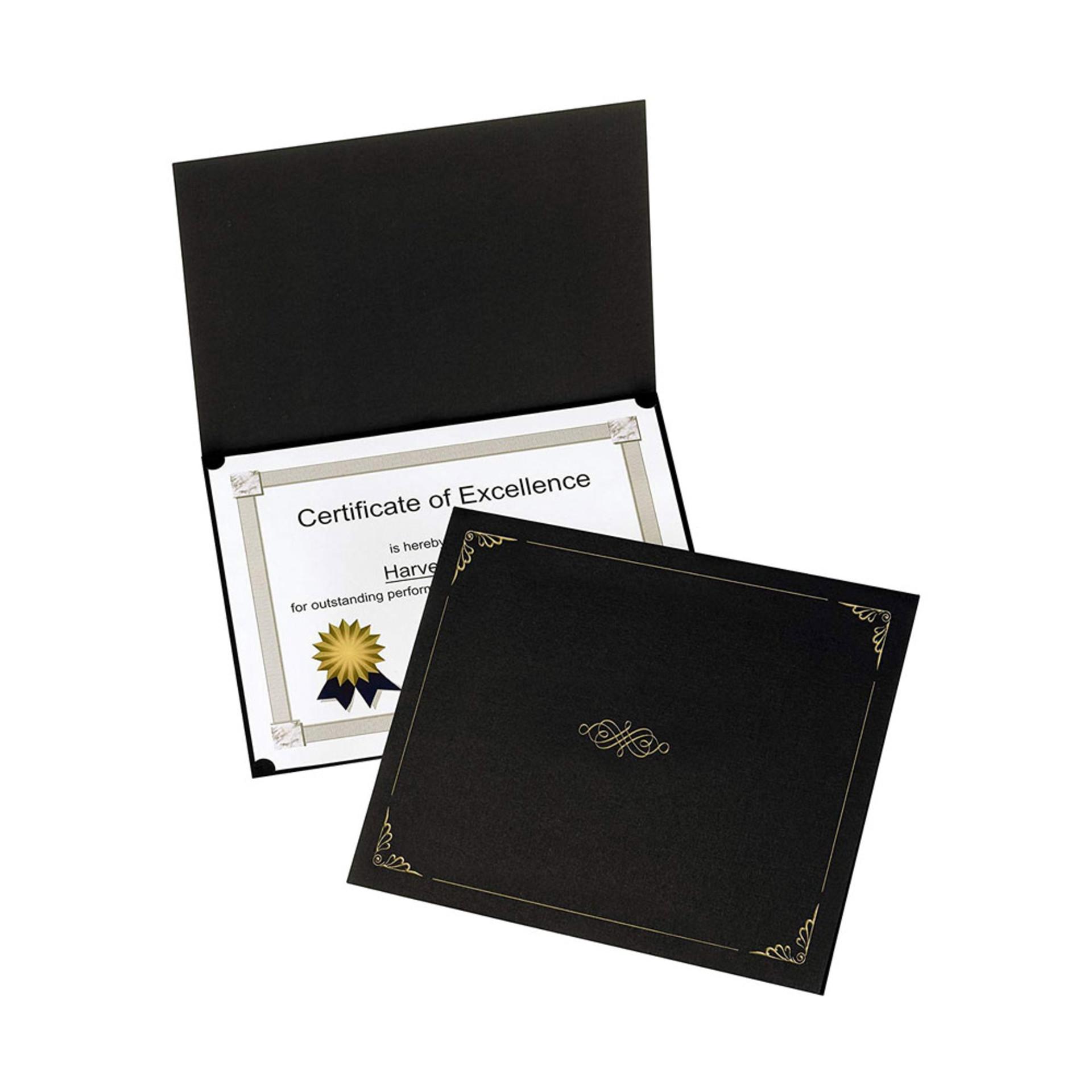 "Oxford Black 12.5""x9.75"" Diploma Certificate Holder 5 Pack"