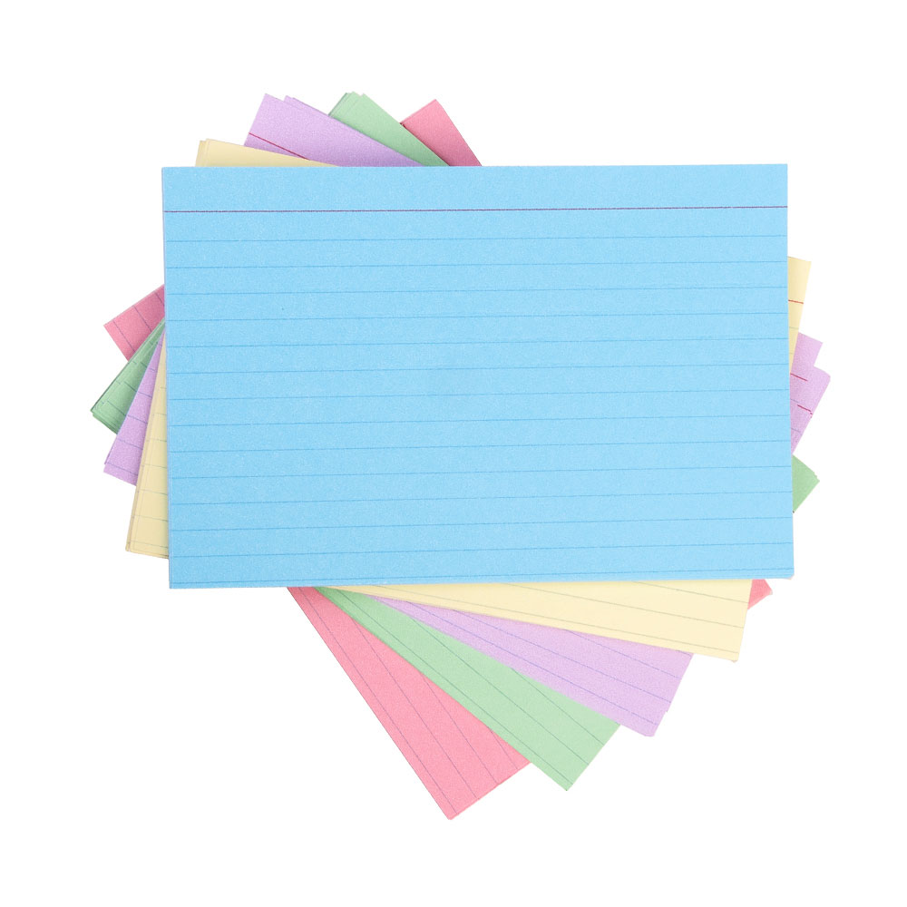 "Oxford Assorted Colors 4""x6"" Ruled Index Cards 100ct"