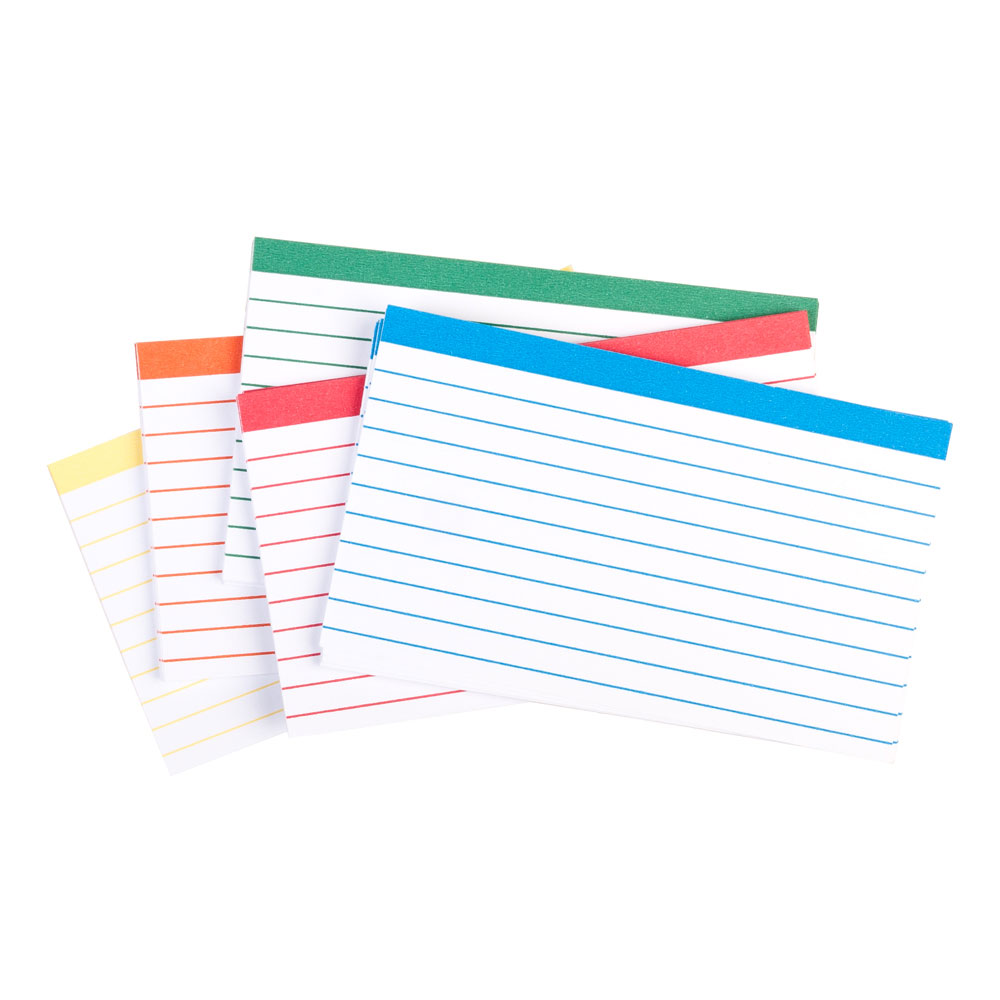"Oxford Assorted Color Coded 3""x5"" Ruled Index Cards 100ct"