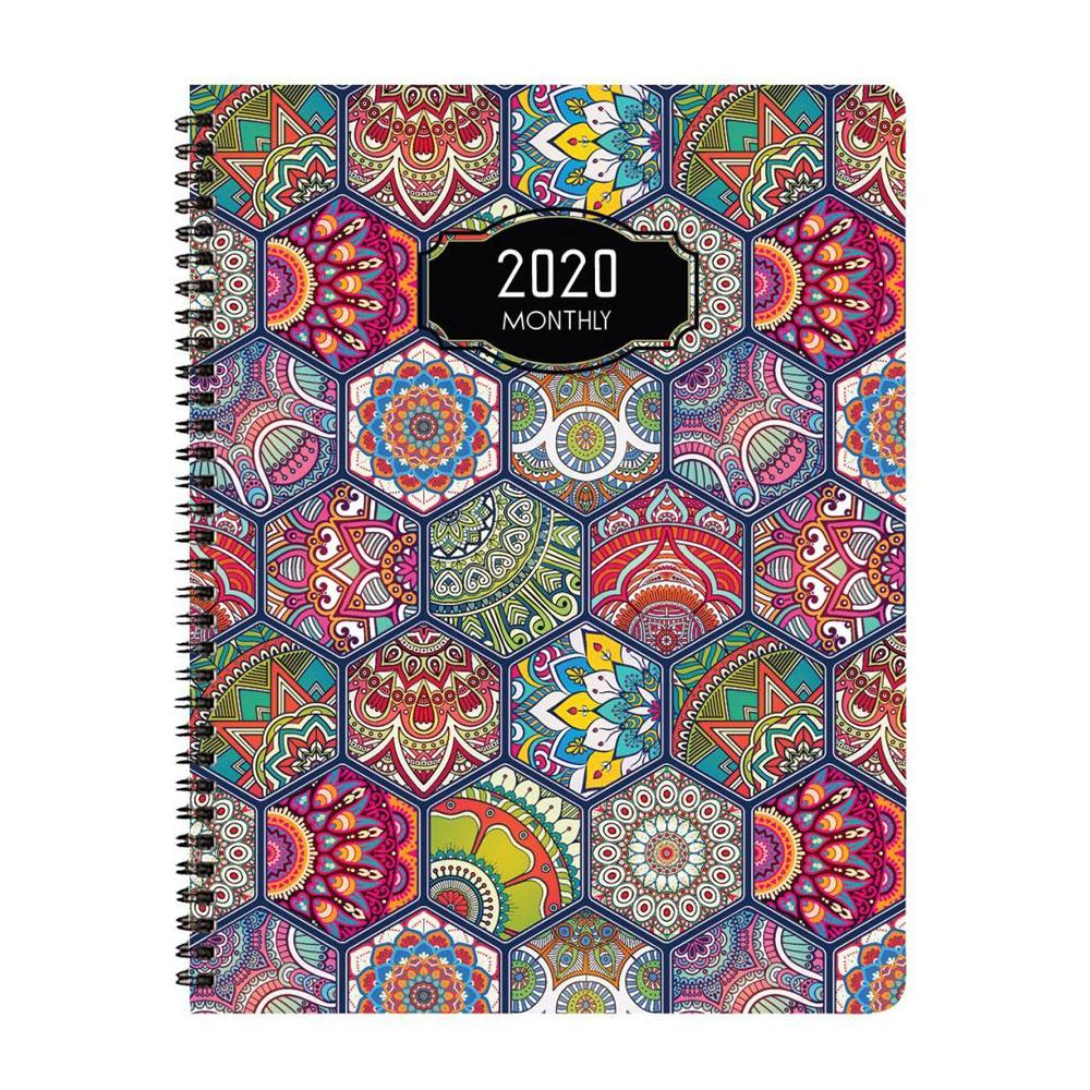 Payne 2020 Deco Monthly Planner 8.5x11in. Wire Bound