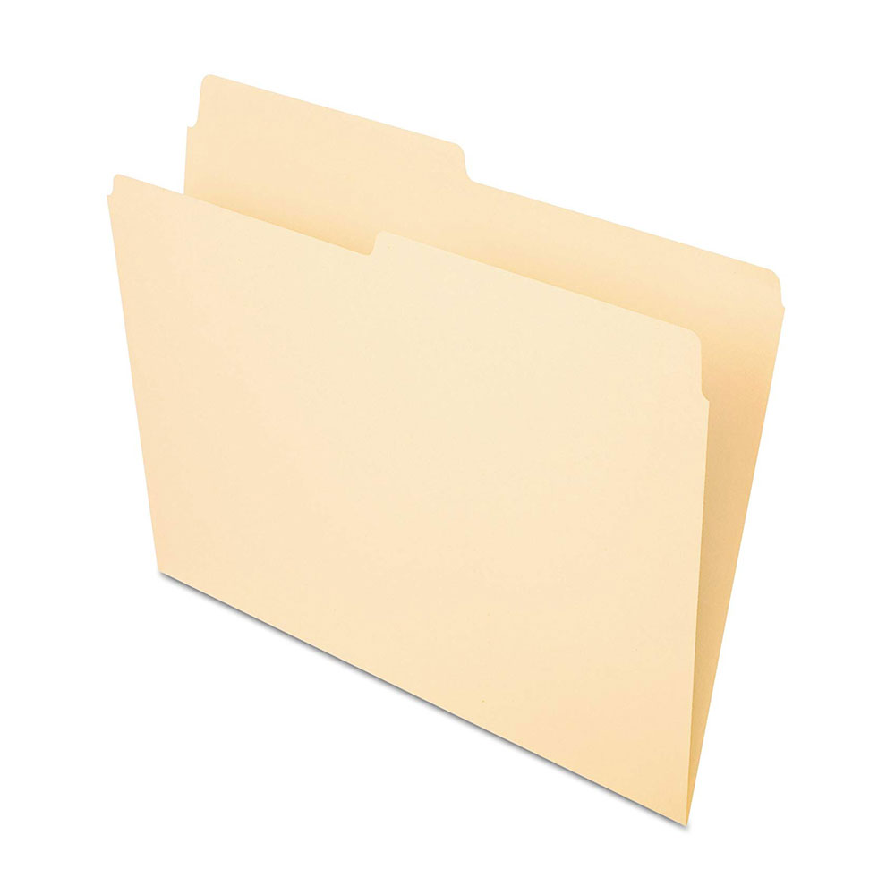 Pendaflex Manila Letter File Folder 1/2 Cut 100-count