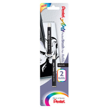 Pentel Black Pocket Brush Pen Refills 2pk