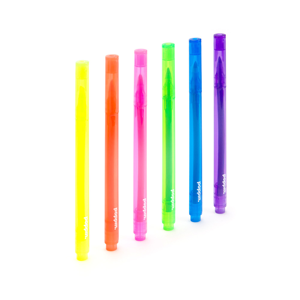 Poppin Assorted Colors Chisel Tip Thin Highlighters