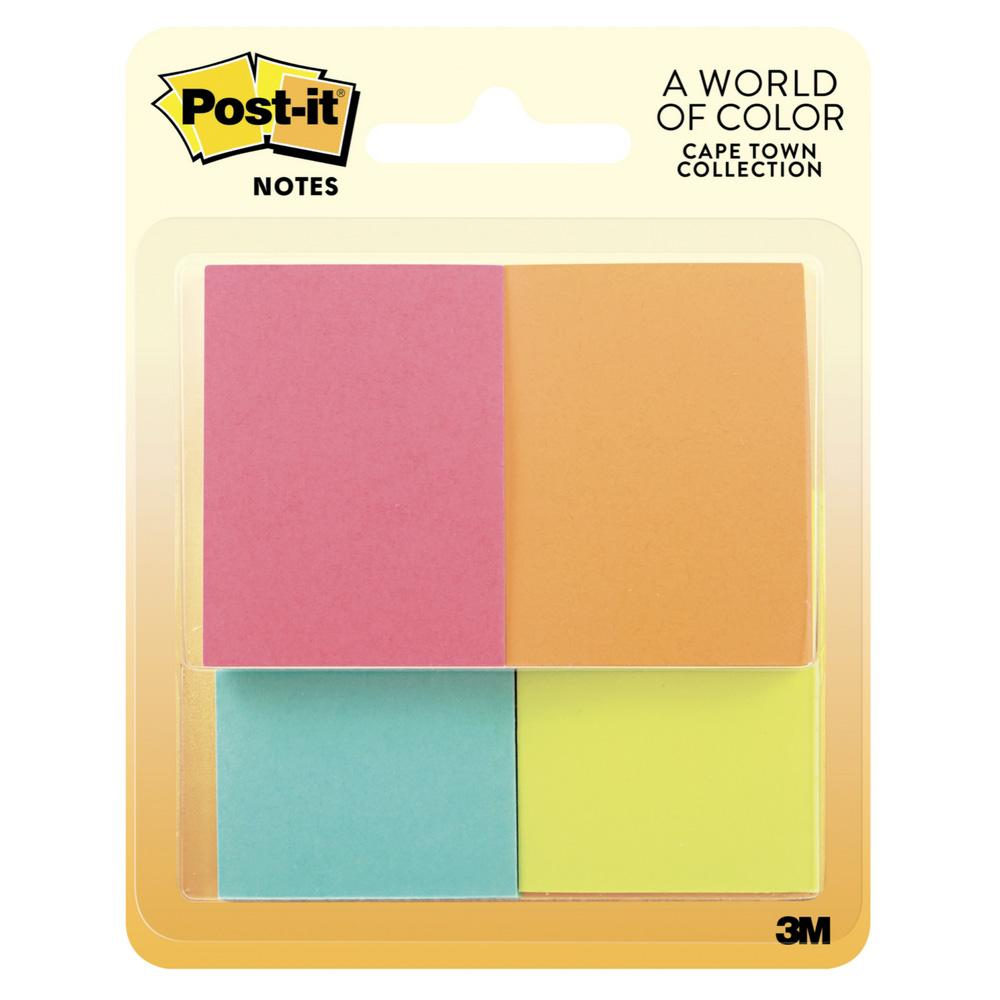 "Post-it Cape Town Collection 1.5""x2"" Sticky Notes 4 Pack"
