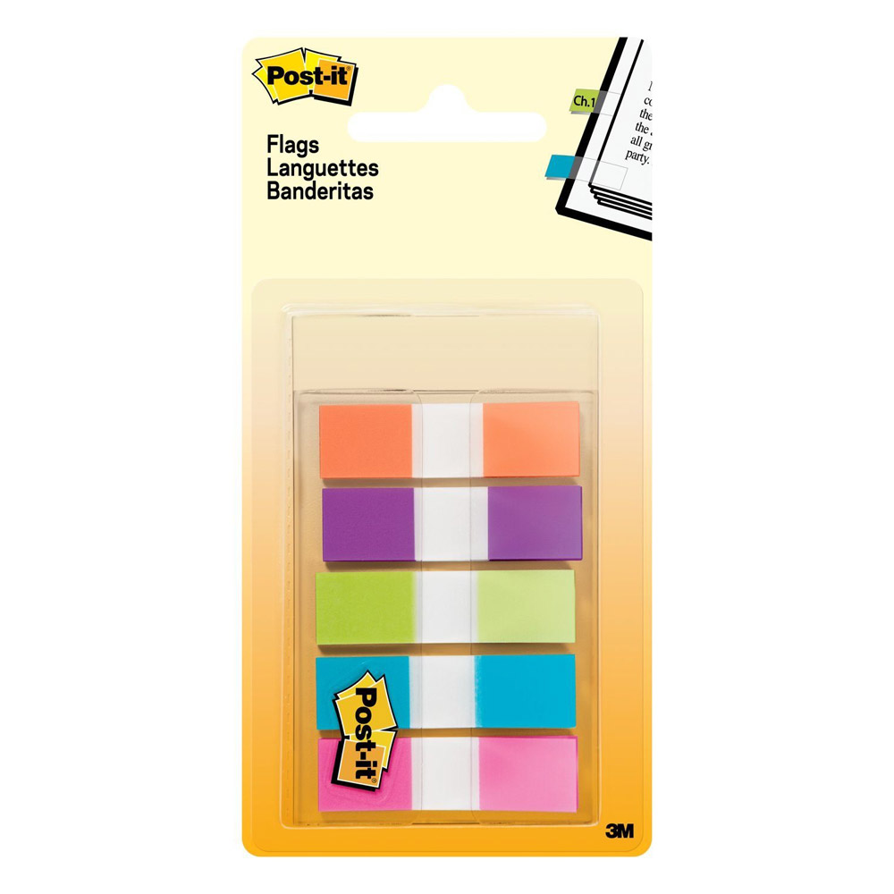 Post-it Five Bright Colors Flags 100 Pack