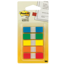"""Post-it Five Primary Colors 0.5""""x1.7"""" Flags 100ct"""
