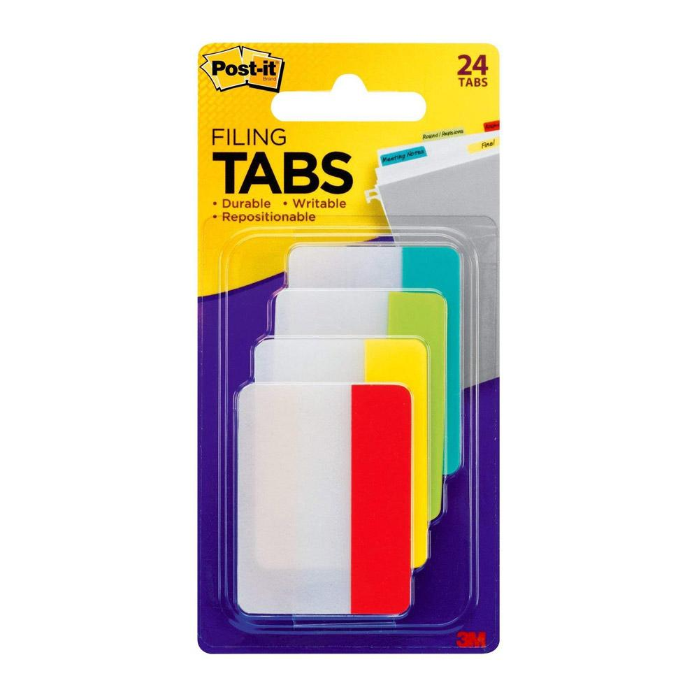 Post-it Four Colors Tabs 24 Pack