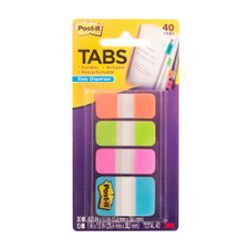 Post-it Four Colors Assorted Sizes Tabs 40 Pack