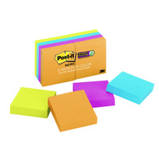 """Post-it Rio Collection 2""""x2"""" Super Sticky Notes 8 Pack"""