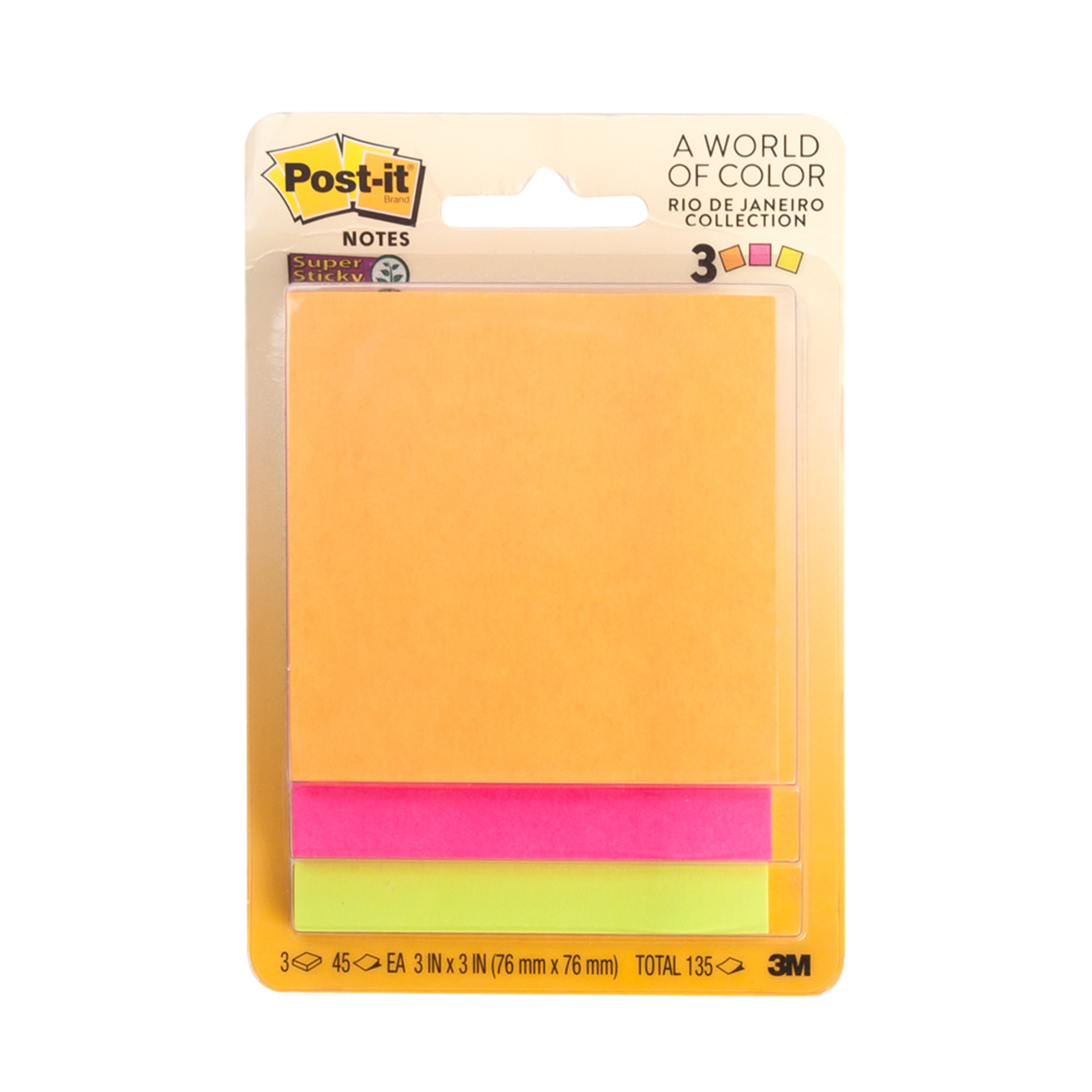 Post-it Rio Collection Super Sticky Notes 3 Pack