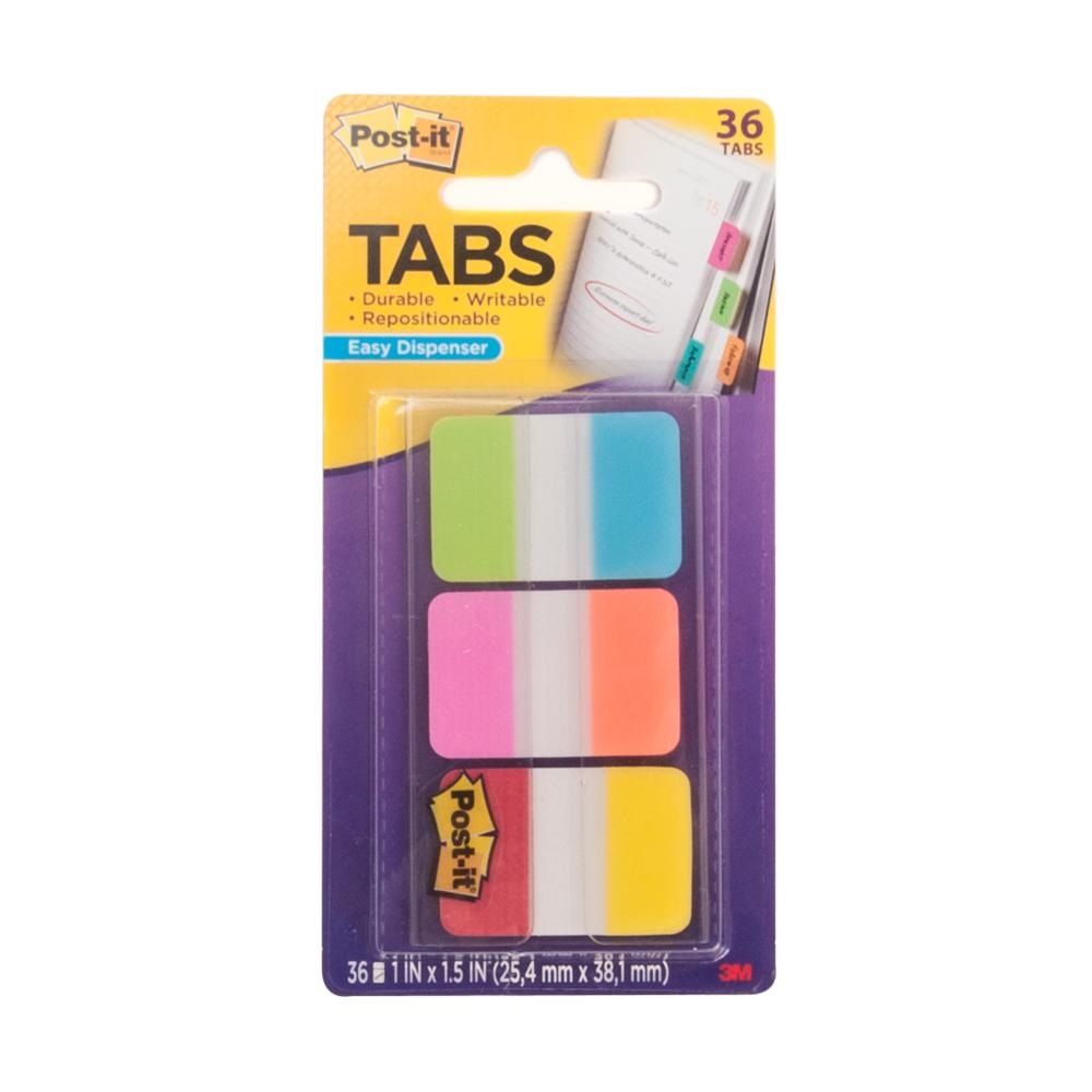 "Post-it Six Colors 1.0"" Tabs 36 Pack"