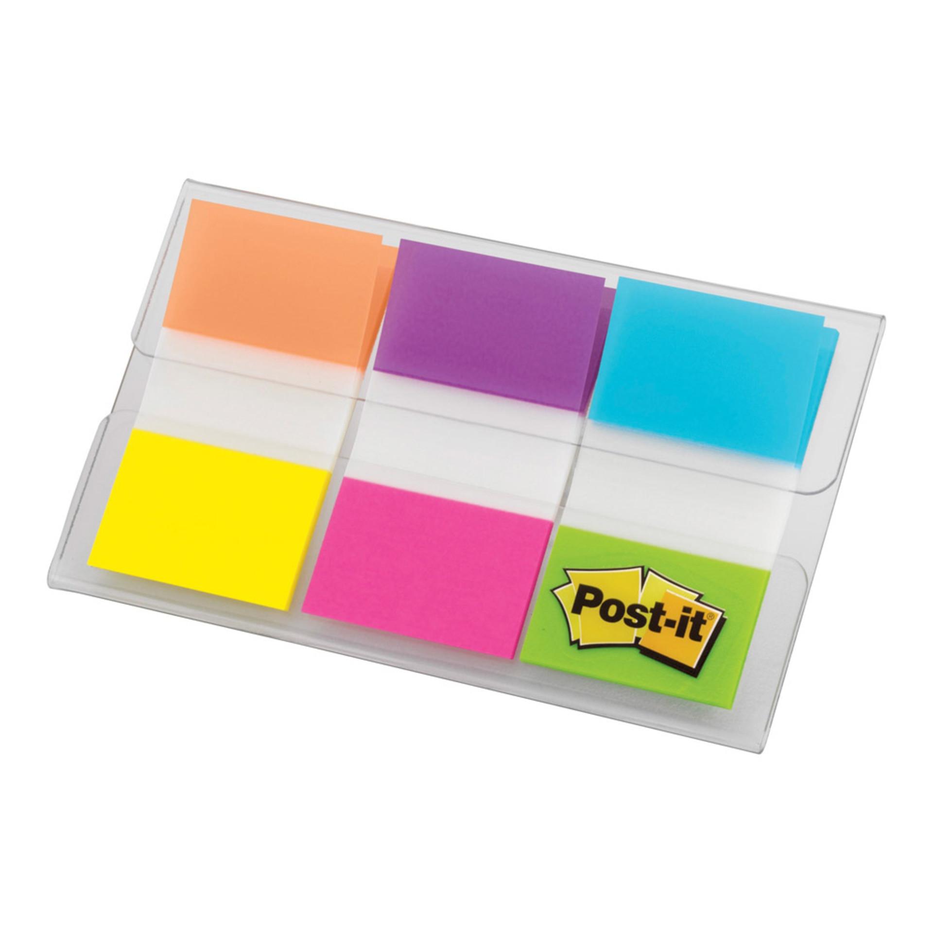Post-it Six Electric Glow Colors Flags