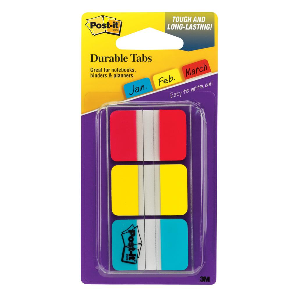 Post-it Three Colors Tabs 36 Pack
