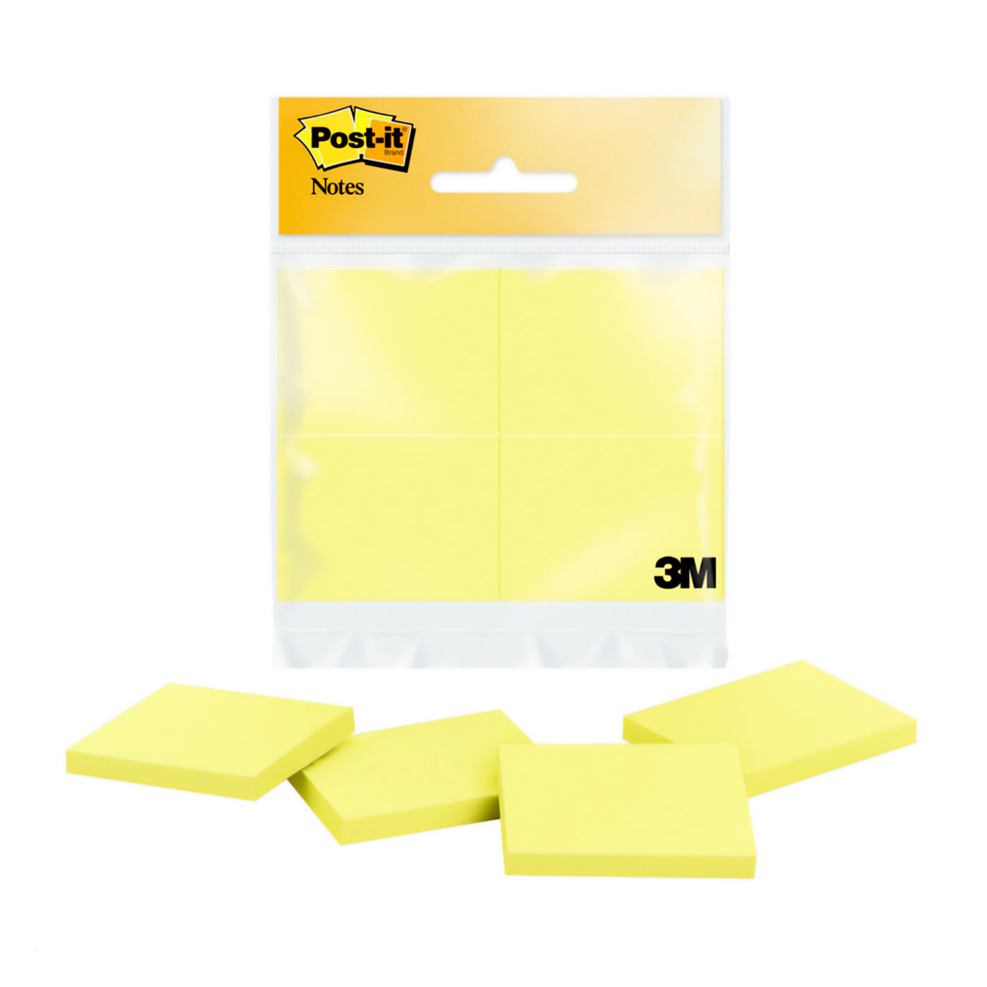 """Post-it Canary Yellow 1.5""""x2"""" Sticky Notes 4 Pack"""