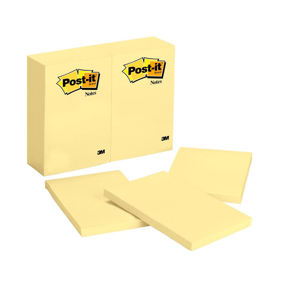 Post-it Yellow 4x6 Notes 100 Sheets