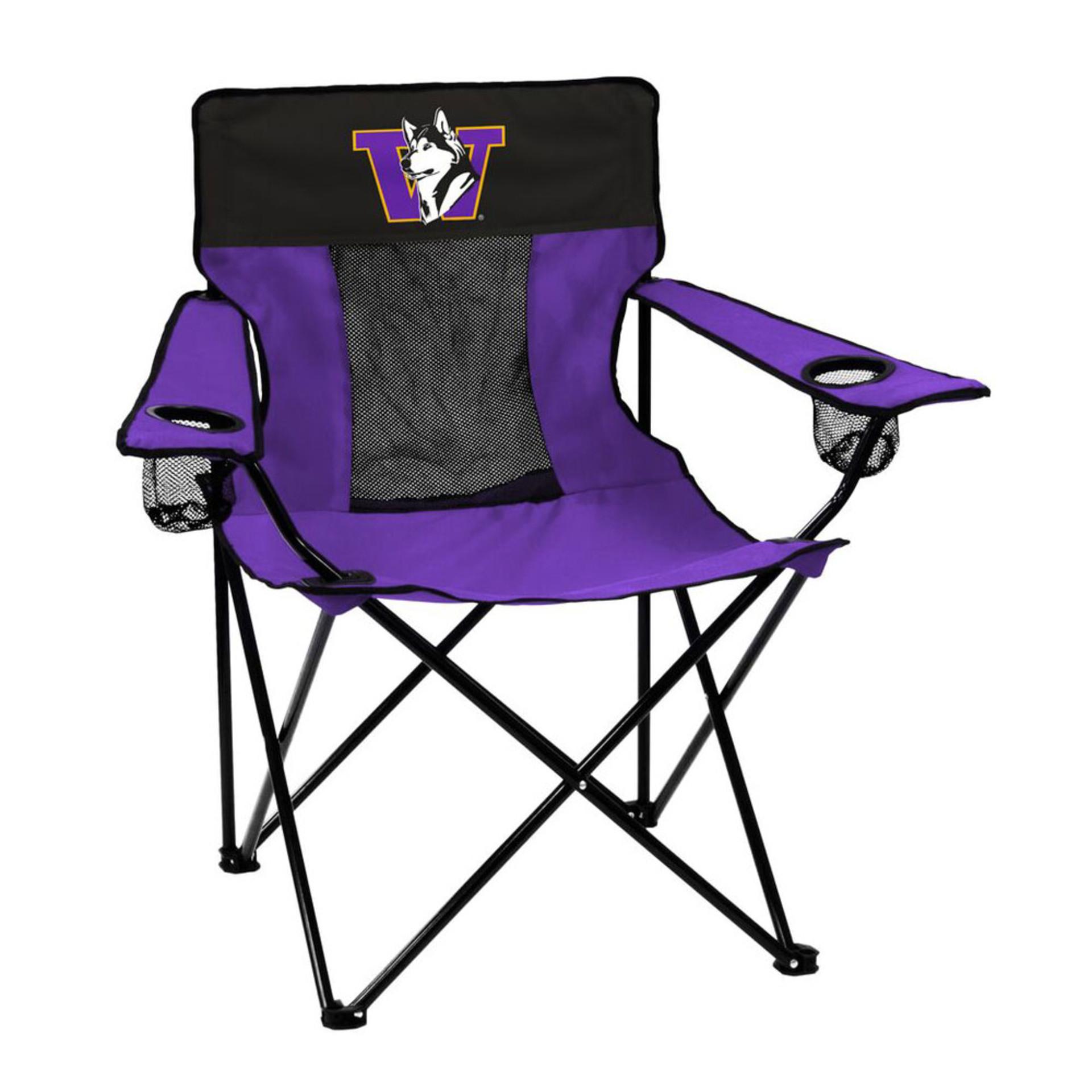 Logo Purple and Black Retro Dog Elite Tailgate Chair