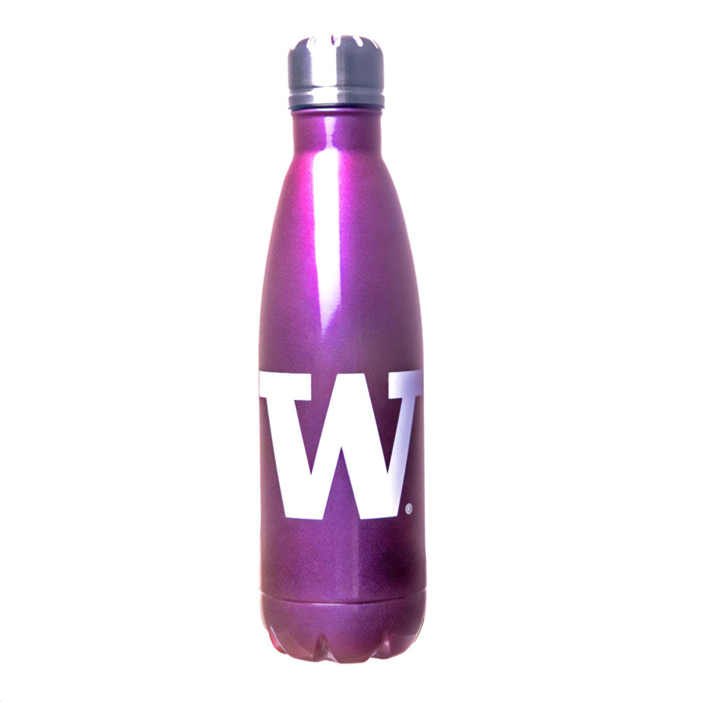 Purple W Iridescent Stainless Water Bottle 17oz