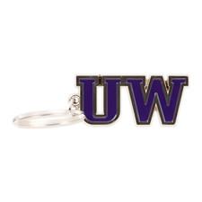 UW Keychain Purple