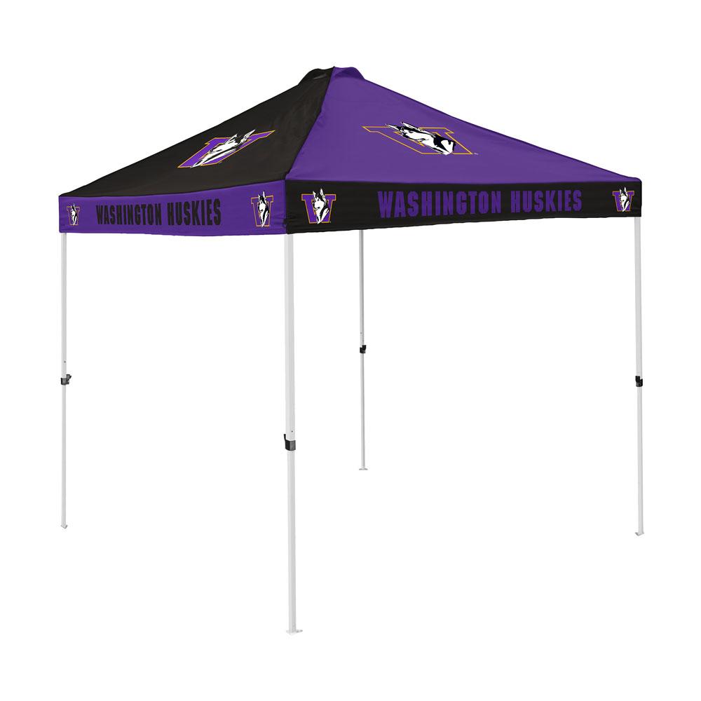 Purple and Black Retro Dog Checkerboard Tailgate Tent