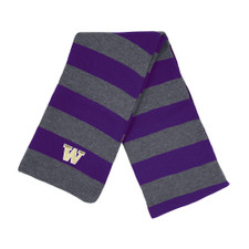 Purple & Gray Stripes UW Niagara Knit Scarf