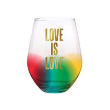 Creative Brands Rainbow Love Is Love Stemless Wine Glass