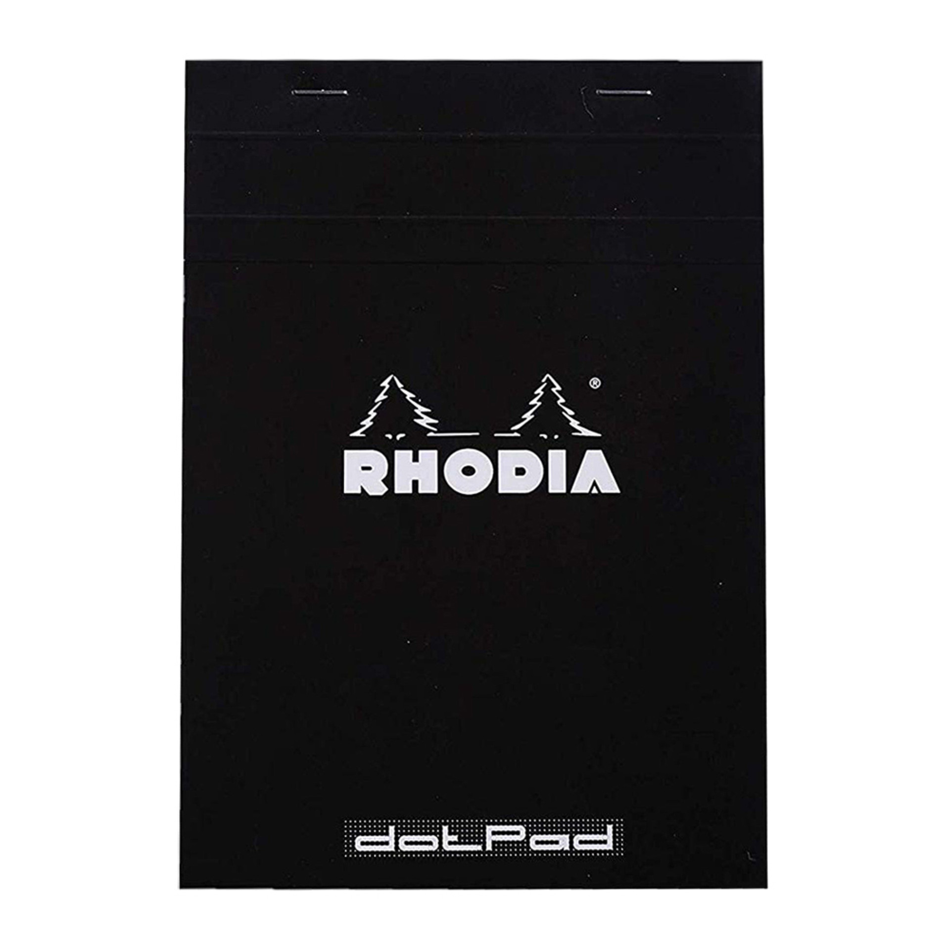 Rhodia DotPad Notepad Stapled Black Front Cover