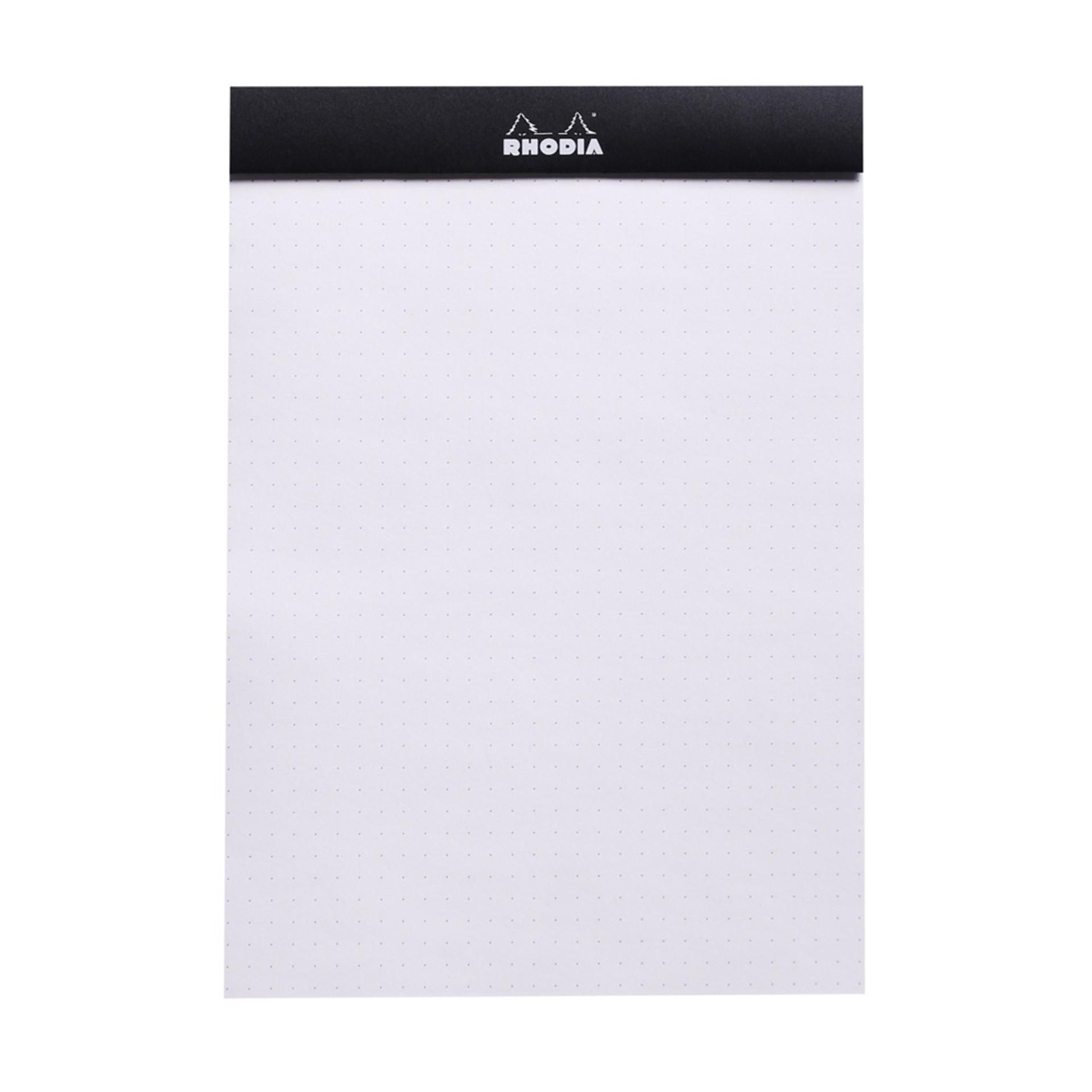 "Rhodia DotPad Notepad Stapled Black 6""x81/4"""