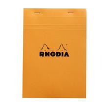 Rhodia Notepad Quad Graph Stapled Orange Front Cover