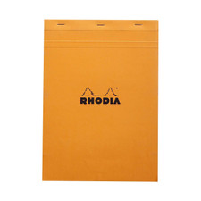 Rhodia Notepad Quad Graph Stapled Front Cover