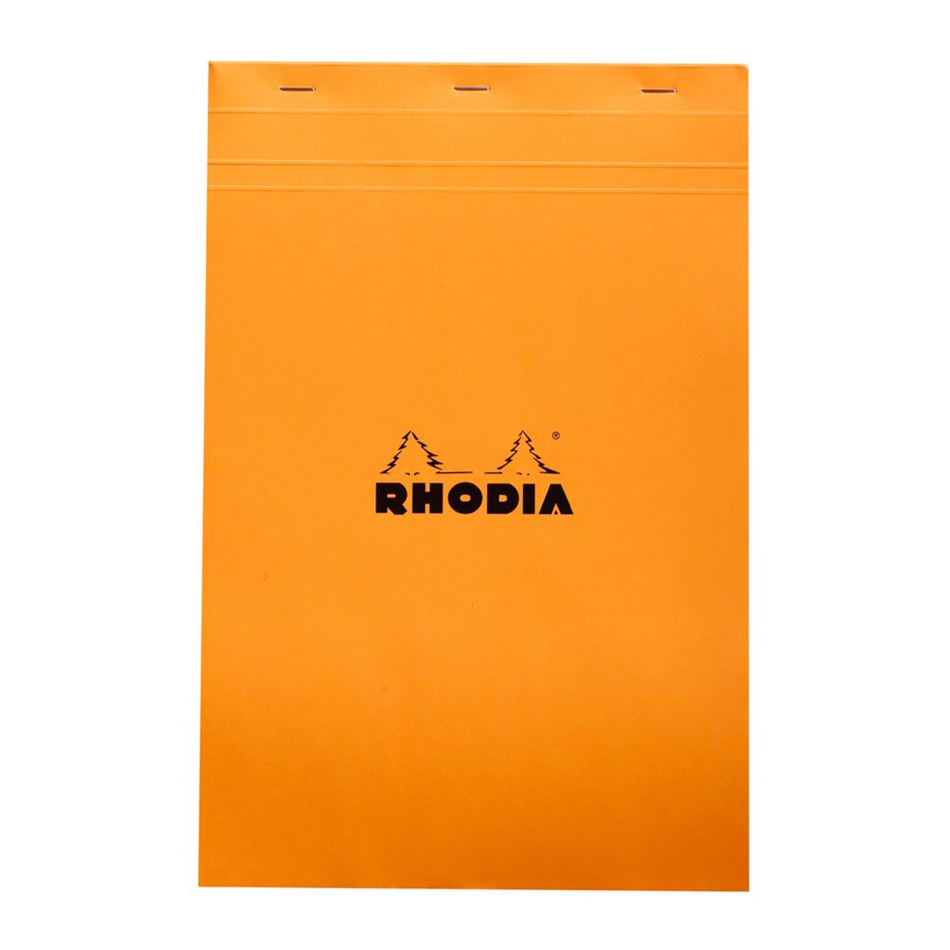 """Rhodia Notepad Quad Graph Stapled Orange 81/4""""x121/2"""""""