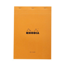 Rhodia Notepad Orange Stapled Front Cover