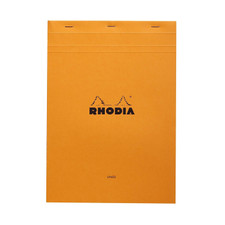 Rhodia Notepad Stapled Orange Front Cover