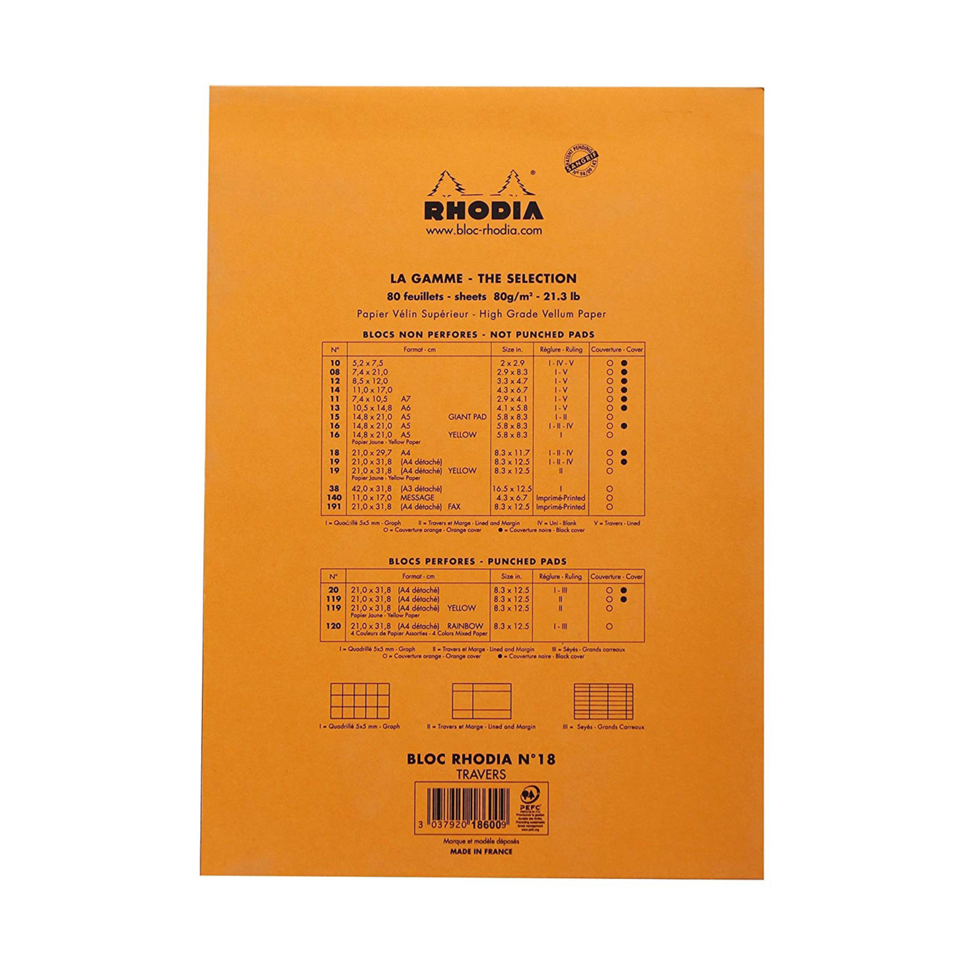 Rhodia Notepad Back Cover