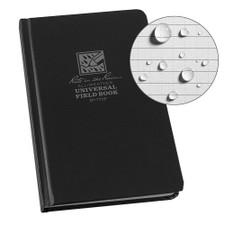 "Rite in the Rain Universal Field Notebook Hard Cover Black 43/4""x71/2"""
