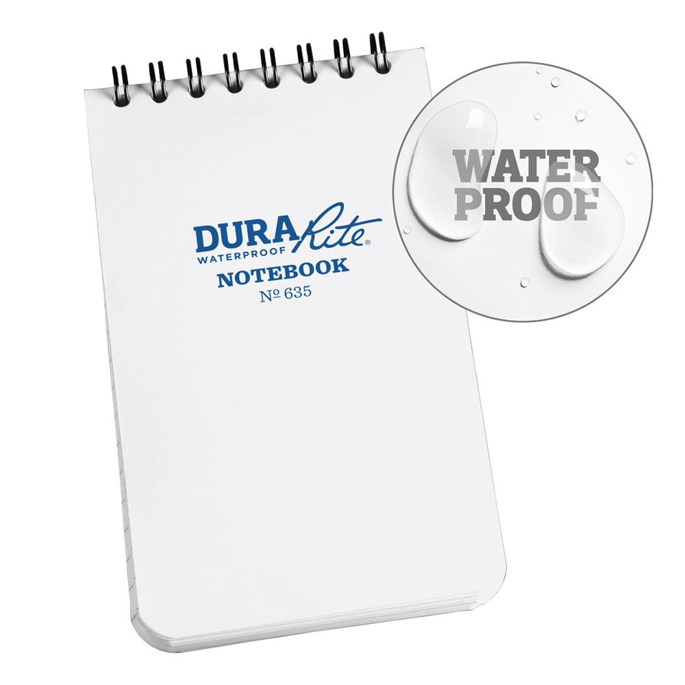 """Rite in the Rain Durarite Waterproof Notebook White 3""""x5"""""""