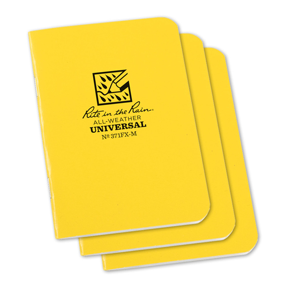 "Rite in the Rain Yellow 31/4""x45/8"" Stapled Notebook"