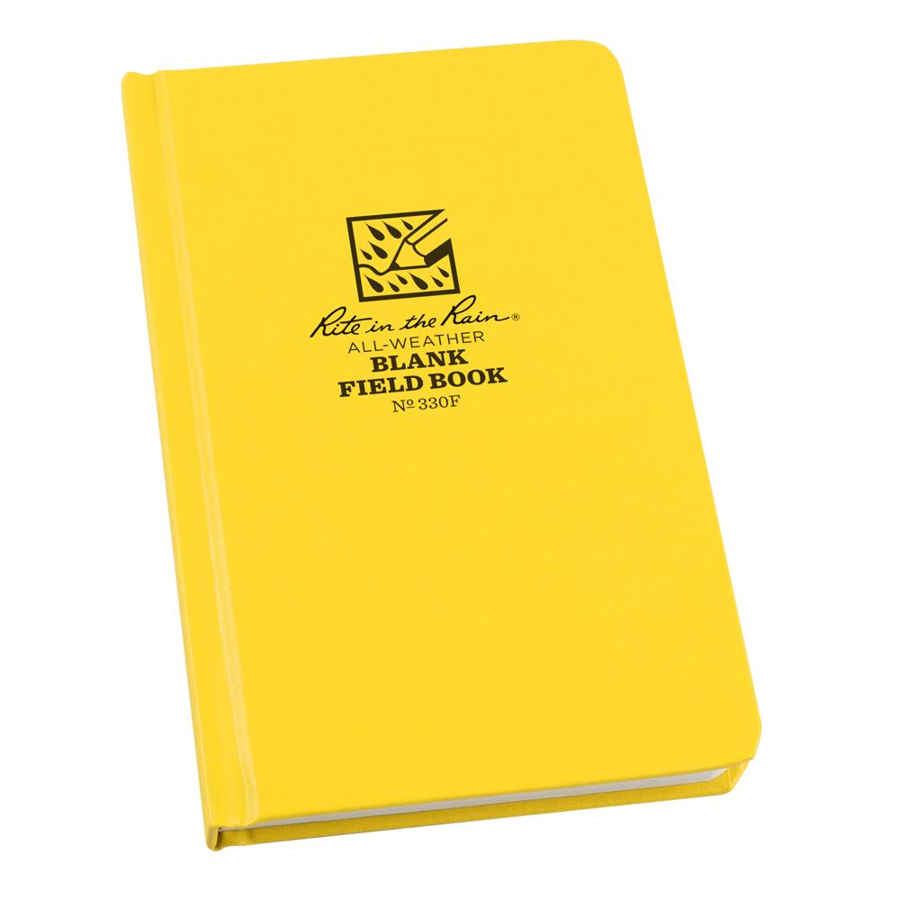 "Rite in the Rain Yellow 4-3/8""x7-1/2"" Hardbound Notebook"