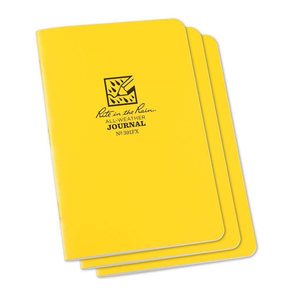 """Rite in the Rain Yellow 4-5/8""""x7"""" Stapled Journal 24ct"""