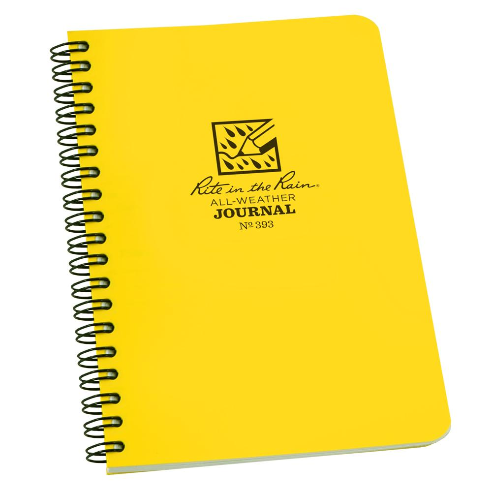 "Rite in the Rain Yellow 47/8""x7"" Spiral Notebook Journal"