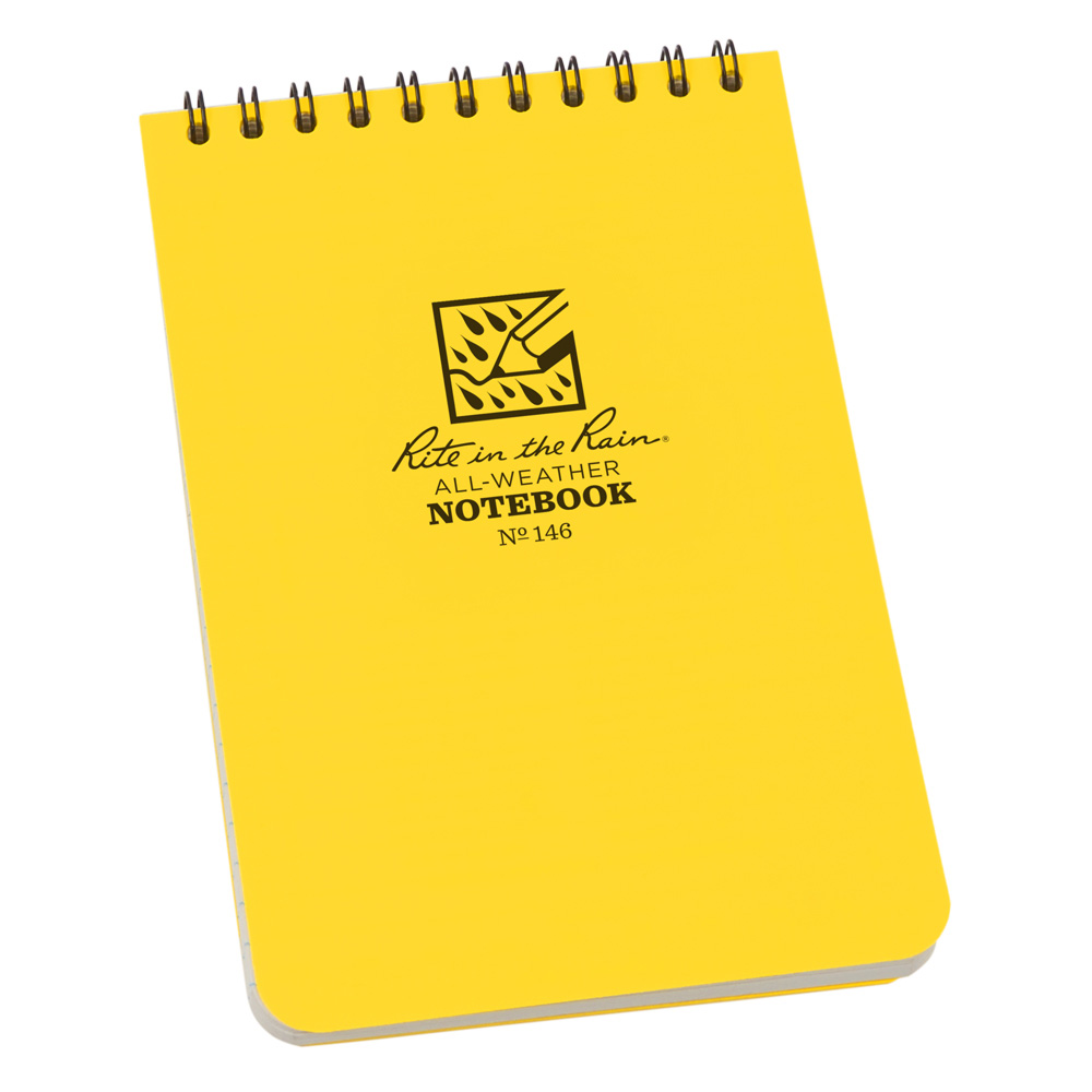 "Rite in the Rain Yellow 4""x6"" Top Spiral Memo Notebook"