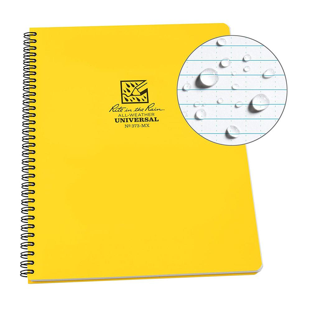 Rite in the Rain Yellow Universal Notebook Front Cover