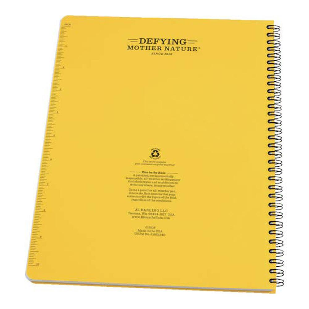 Rite in the Rain Yellow Universal Notebook Back Cover