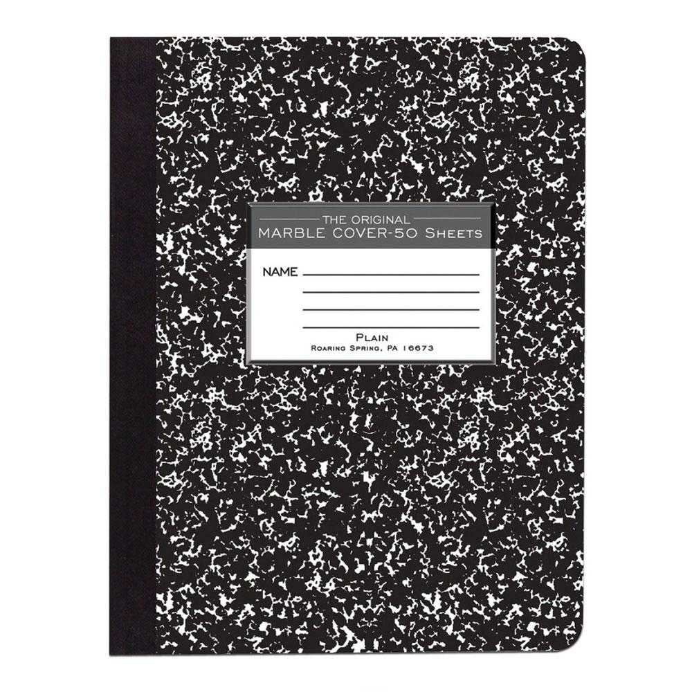 "Roaring Spring Marble Plain 9.75""x7.5"" Composition Book"