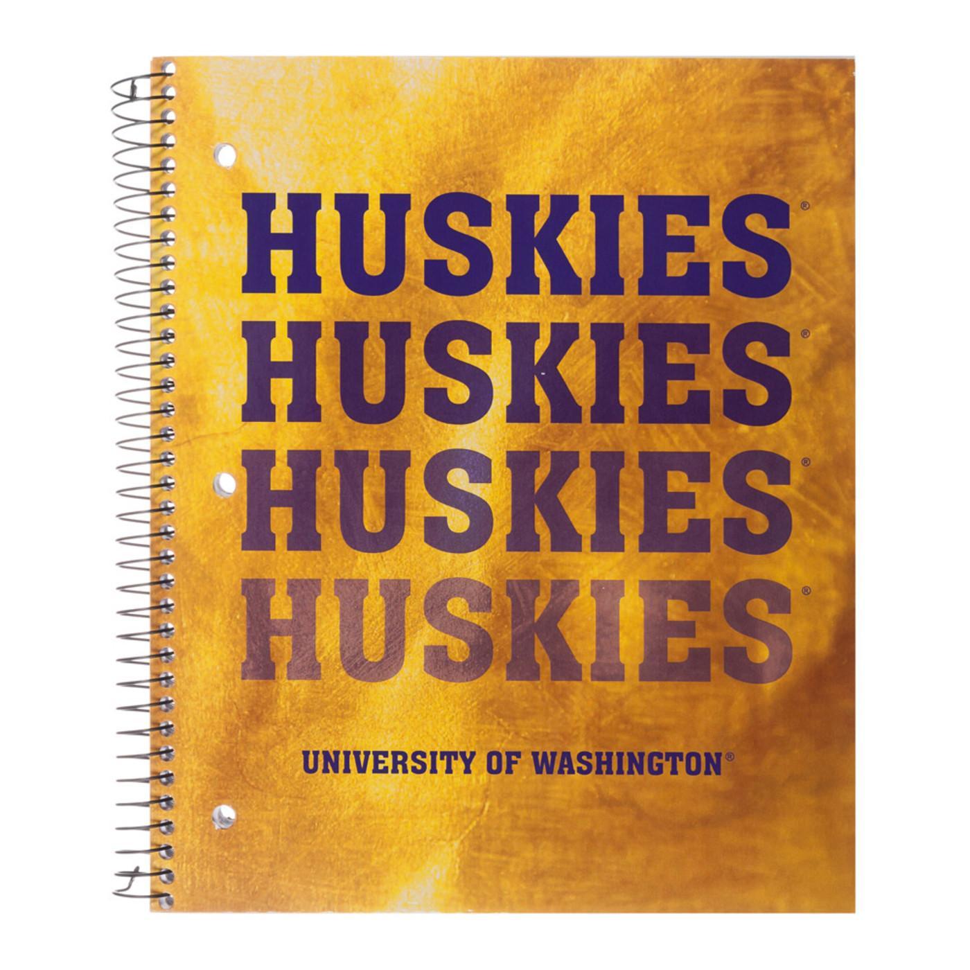 Roaring Spring Washington Huskies 3 Subject College Ruled Spiral Notebook