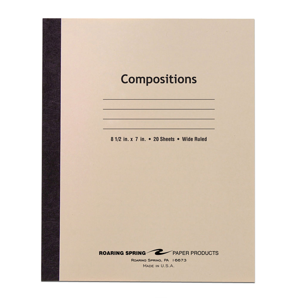 "Roaring Spring Manila Wide Glued 8.5""x7"" Compostion Notebook"