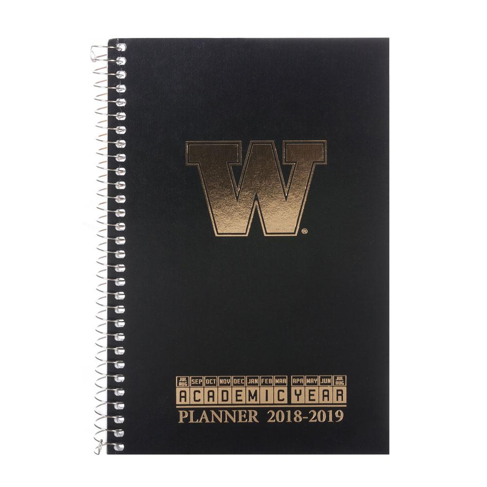 Roaring Springs 2018-2019 UW Academic Weekly Planner Black